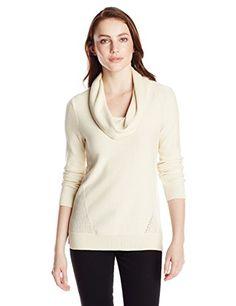 Get Jones New York Women's Cowl Neck Pullover, Creme, Medium - http://womenssweaters.hzhtlawyer.com/get-jones-new-york-womens-cowl-neck-pullover-creme-medium/