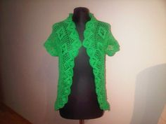 Hand made crochet Green cardigan