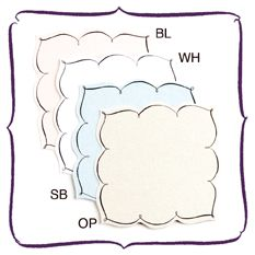 Wendelline Papers Flat Square Place card.  Four colors available Set of 12 for $12.00 www.wendellinepapers.com