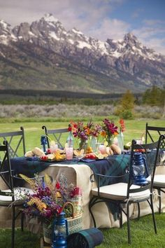 An outdoor dinner celebration with the Dolomites (Italian Alps) in view would be a dream come true.@