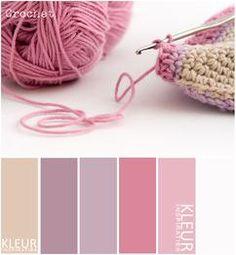 CROCHET - Kleurenpalet zachte tinten roze, paars en crème