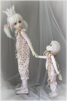 Maddison and Ted BJD dolls by Liz Frost...
