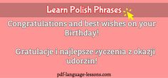 Want to say HAPPY BIRTHDAY in Polish? Here, you learn all the best Polish Birthday Greetings with English translation, writing and pronunciation. Birthday Greetings, Happy Birthday, Learn Polish, Polish Language, Language Lessons, English Translation, Languages, Roots, Writing