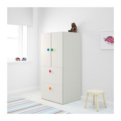 STUVA/FÖLJA Storage combination w doors/drawers White 60x50x128 cm  - IKEA