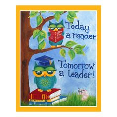 grass+children's+decor | Childrens ART PRINT 16x20 , Today A Reader Tomorrow A Leader ...