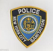New York City Sanitation Police Patch