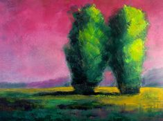 Two Sentinels Tree Portrait by Nancy Merkle