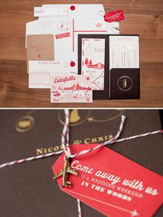 Travel-Inspired Wedding Invitations: Run away with all of your guests in tow. We particularly like the passport-style program of weekend events. Wedding Invitation Inspiration, Destination Wedding Invitations, Wedding Stationary, Wedding Paper, Wedding Cards, Diy Wedding, Wedding Ideas, Carton Invitation, Invitation Cards