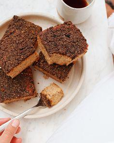 Apple Cider Coffee Cake Apple Coffee Cakes, Yogurt Bowl, Cinnamon Almonds, Streusel Topping, Cake Ingredients, Baked Apples, Pumpkin Bread, Vegan Sweets, Healthy Treats