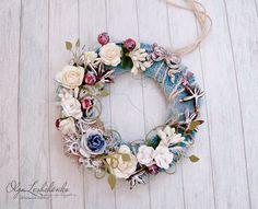 Floral Christmas Wreath - Цветочный Новый год - Венок - 4 этап