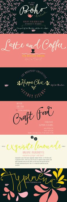 Boho - a new script font family