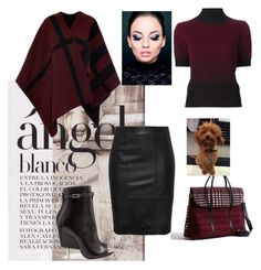 """""""Charlie"""" by alennad ❤ liked on Polyvore featuring Burberry, Eggs, Mercado Global and Givenchy"""