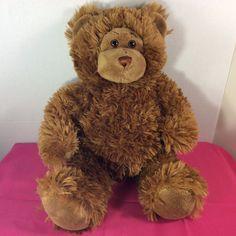 "Plush Stuffed Animal Build-a-Bear Teddy Bear 15"" Brown Retired Short Curly Fur #BuildaBear #AllOccasion"