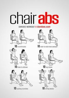 Quick Workouts You Can Do On Your Lunch Break Chair Abs Awesome Full Body Right At Home Or Cardio Routine For