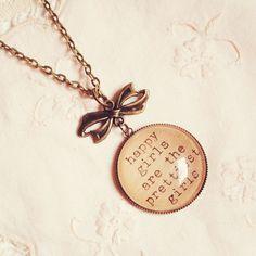 Audrey Hepburn zitieren Halskette Happy von DearDelilahHandmade