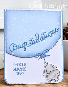 Inky Fingers: My Favorite Things and Wplus9 Unforgettable new baby card
