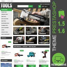 Thème Premium PrestaShop 1.5 et 1.6 pour boutique en ligne dédié à la vente d'outillages, perceuses, visseuses, disqueuses, ponceuses, lasers, batteries…