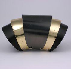Unusual Hinged Tri Toned Bracelet image 2