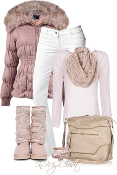Just because fall and winter are cold, it doesn't mean that your outfits should be unflattering and boring, right? Scroll down to see the 15 Cozy And Warm Winter Outfits and find inspiration for your next one Casual Winter Outfits, Winter Fashion Outfits, Cute Fashion, Autumn Winter Fashion, Fall Outfits, Womens Fashion, Polyvore Winter Outfits, Mode Au Ski, Look Rose