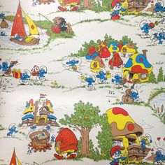 smurf wallpaper for bedrooms