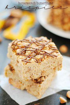 Butterscotch Butterfinger Rice Krispies Treats