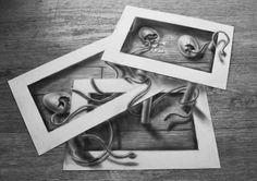 Dibujos tridimensionales a lápiz 5