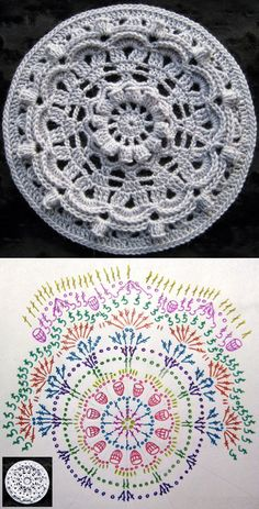 How to make a magic ring in crochet Motif Mandala Crochet, Crochet Circles, Crochet Diagram, Crochet Stitches Patterns, Crochet Squares, Thread Crochet, Crochet Designs, Crochet Cushions, Crochet Tablecloth