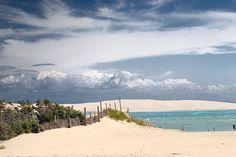 La pointe du Cap-Ferret with the Dune du Pyla in background
