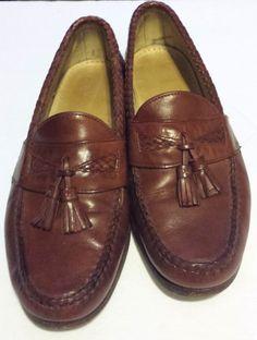 """ALLEN EDMONDS Men's Dress Loafer Tassel Shoe Size 9 EEE Brown Leather """"Maxfield"""" #AllenEdmonds #LoafersSlipOns"""
