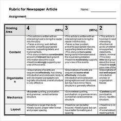 Newspaper Articles Worksheet Template  Free Downloads  Resources
