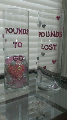 Thanks Pinterest for this motivational idea. The small pink, white, and clear stones represent the pounds lost. As a reward, I give myself an extra pink diamond shaped stone for every 10 lbs lost. The big pink bling heart is being saved for when I reach my weight loss goal. It also reminds me to love myself and treat my whole body well...mind, body, spirit! #weightlossrecipes