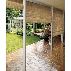 Add natural beauty to your home with the these roll-up blinds. Created to gently roll up to any desired height, this blind brings a calming elegance, style, and sophistication to your home while filtering out some of the sun's harsh light.