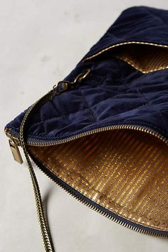 Downtown Quilted Velvet Clutch - anthropologie.com