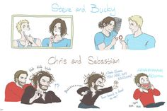 "LOL!! Reminds me of Chris Evans's nickname for Sebastian Stan ""Winter Boo Bear"" XDDD"