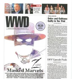 Streamcolors on the main page of WWD Magazine