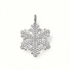 Thomas Sabo Seasonal Silver and White Zirconia Large Snowflake Pendant Thomas Sabo, Fine Jewelry, Women Jewelry, Jewellery, Cute Charms, Shape Patterns, Sterling Silver Jewelry, Gifts For Women, Snowflakes