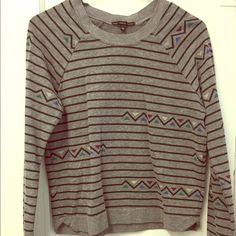 UO Truly Madly Deeply Geometric Stripe Sweater Worn a couple times, really soft and comfortable. Size medium. Urban Outfitters Sweaters