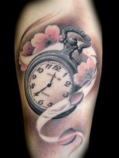 I would love to do this and have the time of the watch set to Mason's birth time....Vintage Pocket Watch Tattoo   Pocket Watch Tattoo Design
