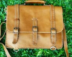 "Messenger Bag/14"" Laptop Leather Bag/Tanned Leather Laptop Bag/Men Leather Bag/Office Leather Bag/Handmade Leather Bag/ Ready Stock Bag"