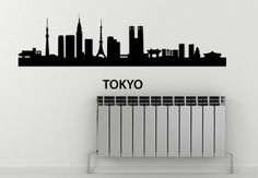 Tokyo Skyline Wall Sticker. Tokyo Skyline features innumerable distinct buildings and unique skyscrapers. In fact, it has some of the world's remarkable architectures stocked. Let the amazing view of this city beautify your wall decors in an appealing manner that grasps everyone's undivided attention right away. http://walliv.com/tokyo-skyline-wall-sticker-art-decal