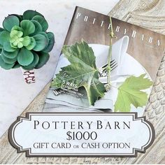 Go to ----> @theglitteredgal NEXT!  It's time for one FABULOUS giveaway!  I'm so excited to be teaming up with some amazing ladies on Instagram to give one of our lucky followers a $1000 Pottery Barn gift card -OR- $1000 cash prize! With the #Holidays here who isn't excited to #decorate their home or to have some extra cash to spoil your loved ones with?! This could be yours - All you have to do is enter for your chance to #win!  Follow these easy steps below to enter:  1.) Follow me. We…