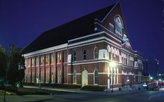"""Ryman Auditorium 
