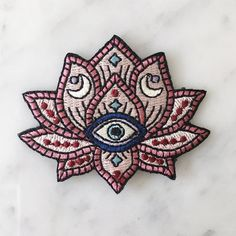 'Lotus Evil Eye' Patch by Wildflower & Co.