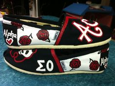 AOII Painted TOMS. Alpha love :)  Alpha Omicron Pi Sorority, Sigma Omicron Chapter.