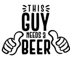 This Guy Needs a Beer SVG Cut file by Creative Fabrica Crafts - Creative Fabrica Silhouette Cameo Projects, Silhouette Design, Cricut Vinyl, Vinyl Decals, Yeti Decals, Beer Mugs, Vinyl Projects, Circuit Projects, Cricut Creations