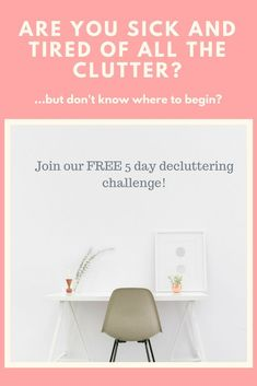 It is time for you to take your home back from the clutter! Do you want to declutter your home, but don't know where to start? I have great news, girl. Join me on July 29 where I will walk you through decluttering your home efficiently so you can start en