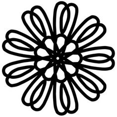 Silhouette Design Store - View Design #196204: flower