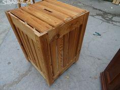 prodam drevenou bednu na koleckach 41x41v60, - obrázek číslo 1