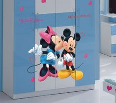 topdesignshop Wandtattoo Aufkleber und Gravuren Shop - Micky Maus Aufkleber - Kinderzimmer Wandtattoo Set