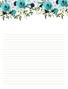 Boho Blue Stationery Printables that you will love. 10 designs that could be printed at home to make a scrapbook! Letter Stationery, Stationery Paper, Stationery Design, Printable Lined Paper, Free Printable Stationery, Printable Letters, Vintage Flowers Wallpaper, Note Paper, Writing Paper